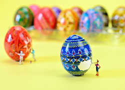 CATHY SCOLA - Easter Egg Artists at Work
