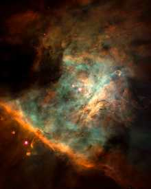 Orion nebula center (NASA/JPL - Caltech)