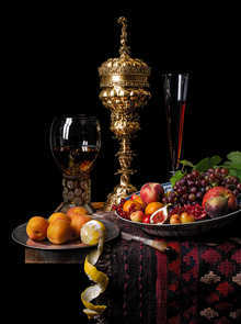Still life with pineapple cup