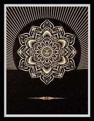 Obey Lotus Diamond (Black & Gold)